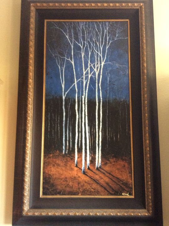 """""""White Trees on Blue"""" - Todd White & Robert Cook pieces"""