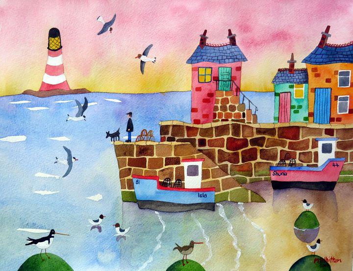 Isla and Shuna - Martin Whittam Artist