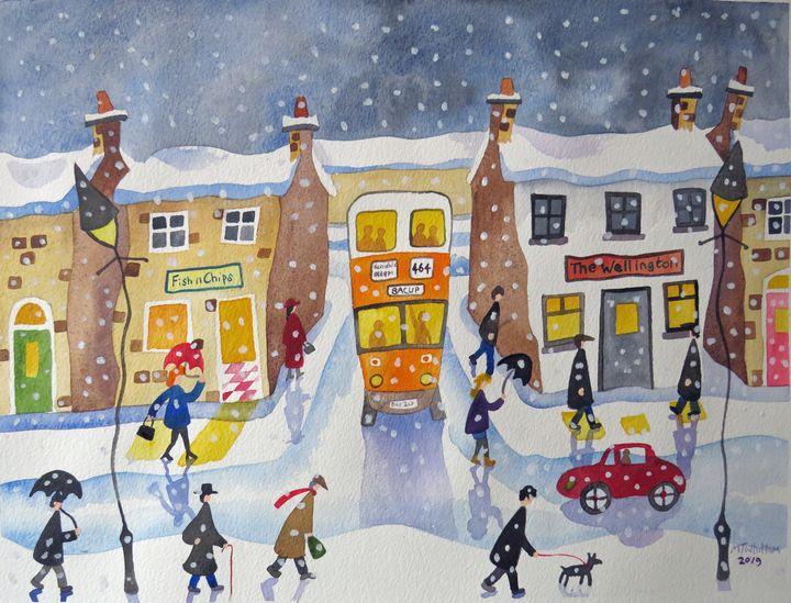 Winter in Bacup - Martin Whittam Artist