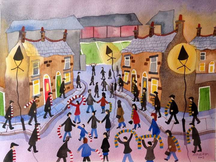 Going to the Match - Martin Whittam Artist