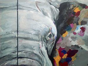 Artistic elephant