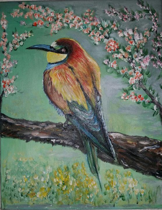 Rainbow Bird - Claude's Paintings