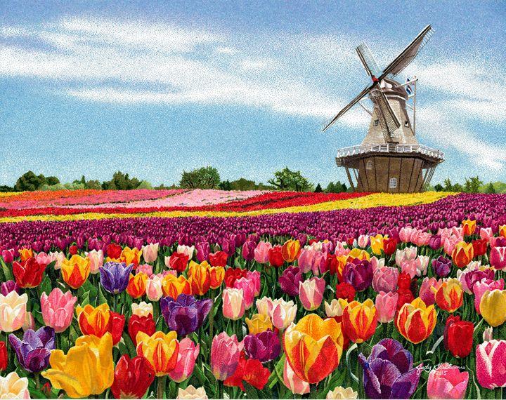 Holland, Michigan - Pointillism Art by Judy