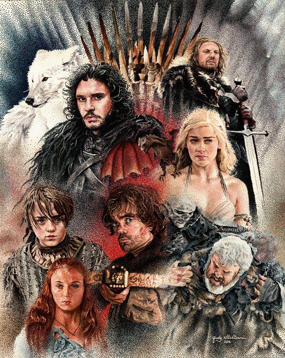 Game of Thrones - Pointillism Art by Judy