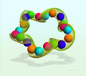 Slinky Spheres - dansmathart