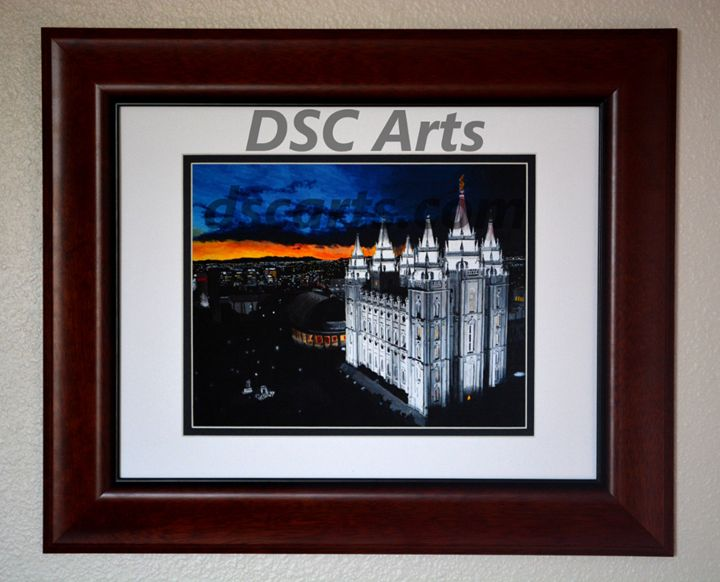 Salt Lake LDS Temple at Dusk - DSC Arts