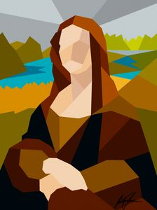 Abstract geometric Monalisa