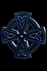 Blue Metal Celtic Cross - Jesse Redheart
