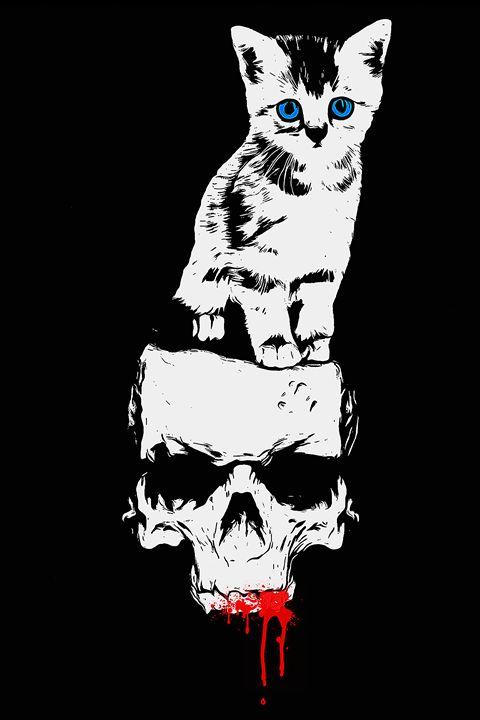 Kittenskull B&W Blood - Jesse Redheart