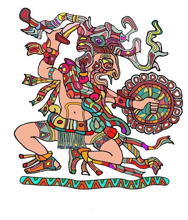 Maya warrior - Leptir House art