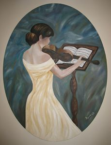 LADY PLAYING VIOLIN