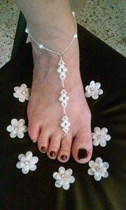 Elegant Pearl barefoot sandals