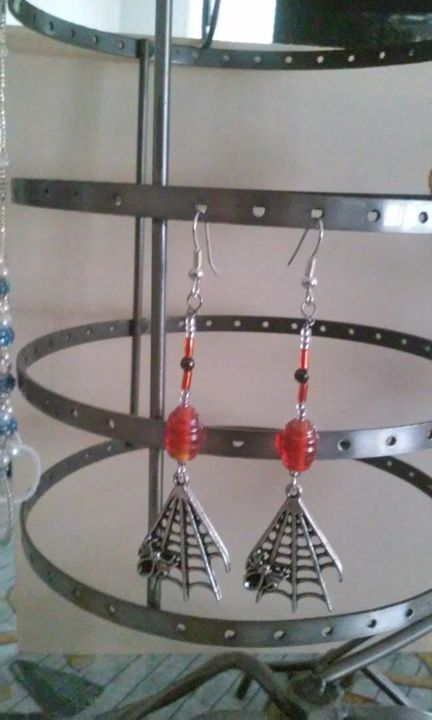 Halloween Spider Web Earrings - Artful Expressions by Donna
