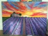 Lavender filed oil painting