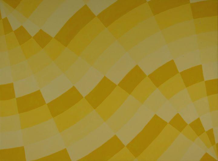 Rectilinear Fan Series Yellow - Colin Bentham