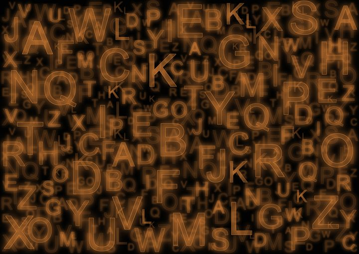 Alphabet orange - Colin Bentham
