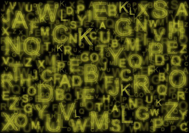 Alphabet yellow - Colin Bentham