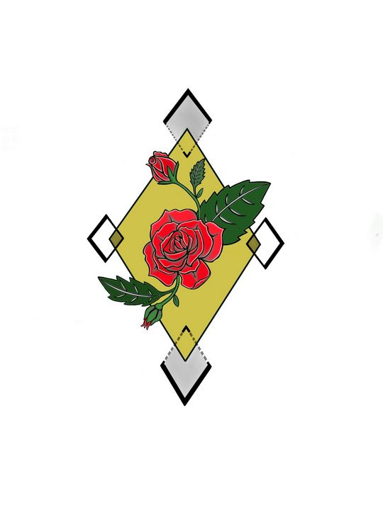 Geometric Rose - Inkling Art Creations
