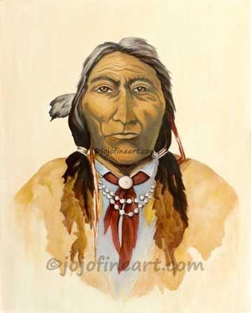 Portrait American Indian - jojofineart