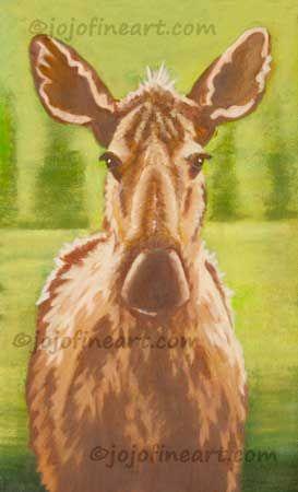 Pretty Moose - jojofineart