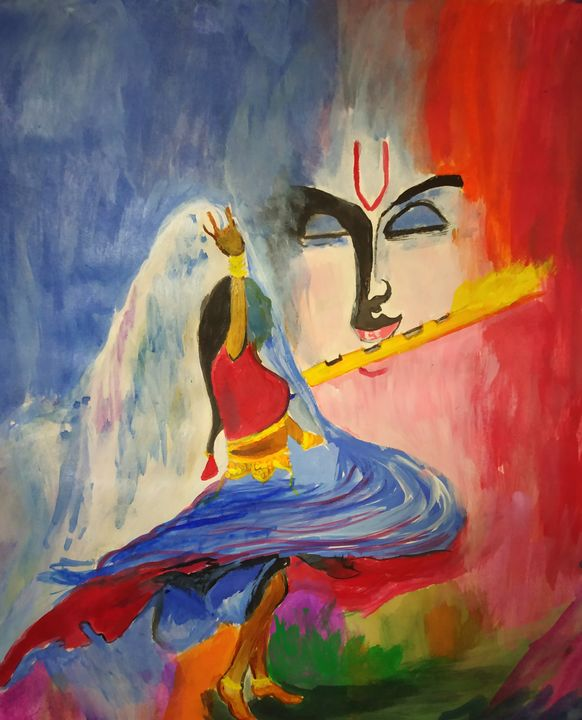 Lord Krishna and devotee - My Acrylic Side