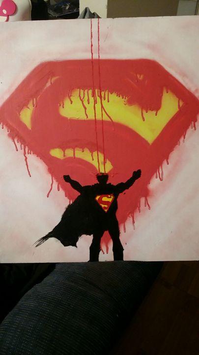 Superman - Chris's Spray paint Art