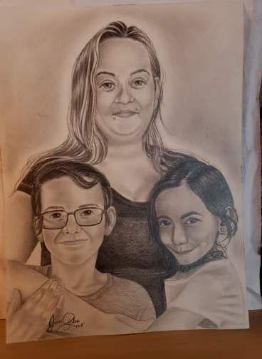 Mother and her children - Groleau's orignials