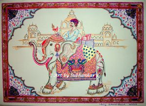 The Royal elephant from Rajasthan