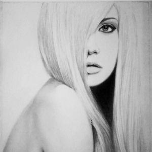 Portrait, pencils, girl, beauty