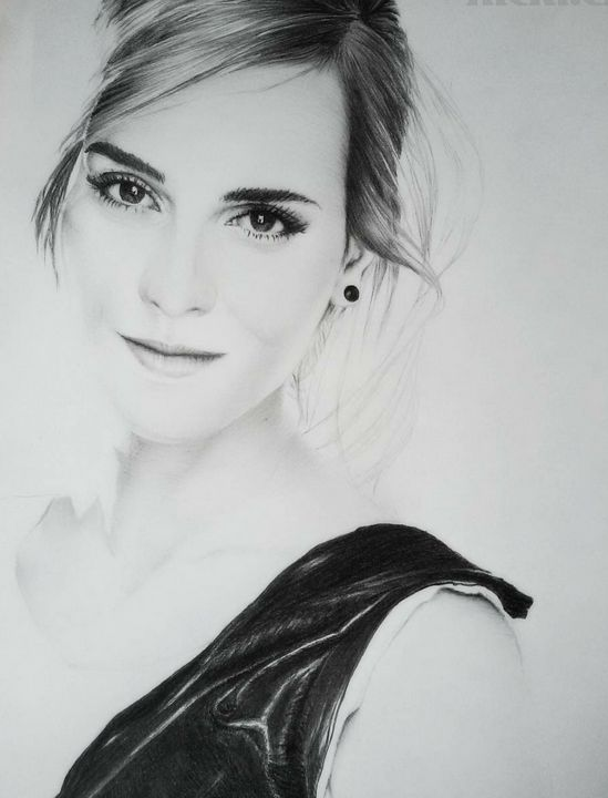 Portrait,graphite,pencil,emmawatson -  Nickicha3