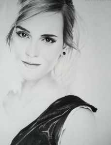 Portrait,graphite,pencil,emmawatson