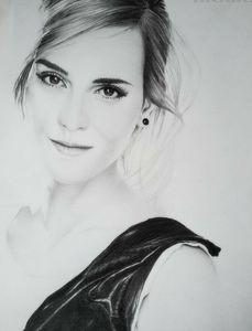 Portrait,graphite,pencil,emmawatson
