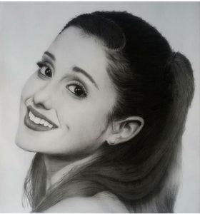 Portrait,graphite,pencil,arianagrand