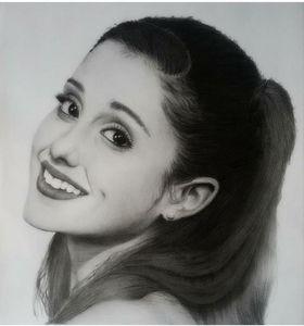 Portrait,graphite,pencil,arianagrand