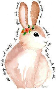 All Things Bright & Beautiful Bunny