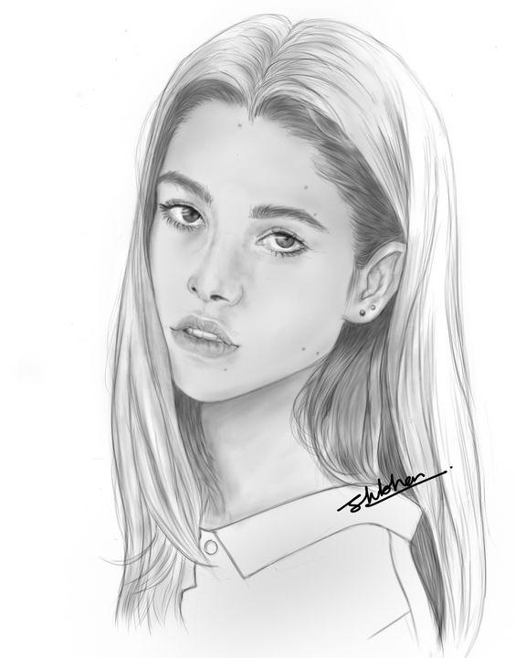 Portrait of a girl - Shubham's creations