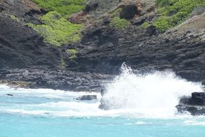 Sandy Beach crashing wave