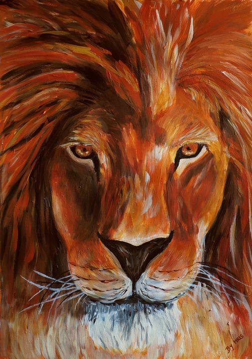 Lion portrait - By Mris