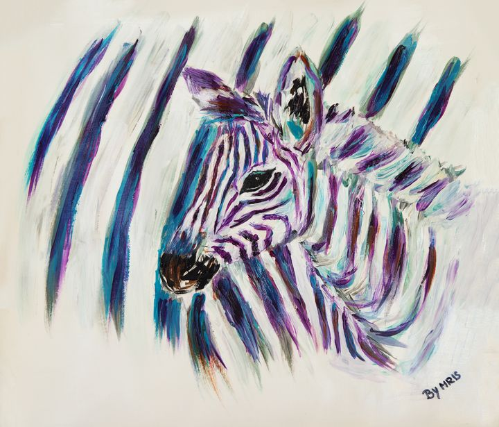 Zebra foal - By Mris