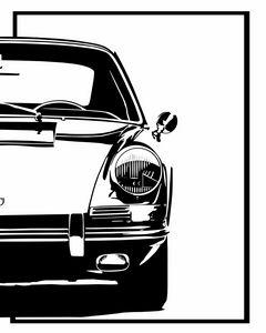 Porsche 911 minimal art