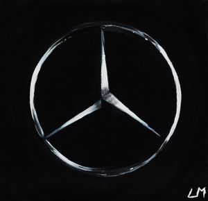 Mercedes Logo Painting