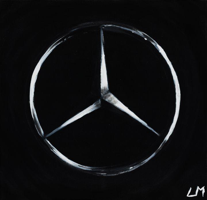 Mercedes Logo Painting - LelkesMatyas
