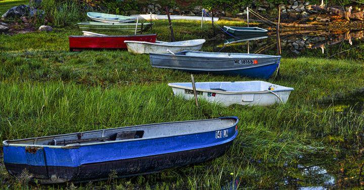 Boats in Marsh - Cape Neddick -Maine - StevenRalserPhoto