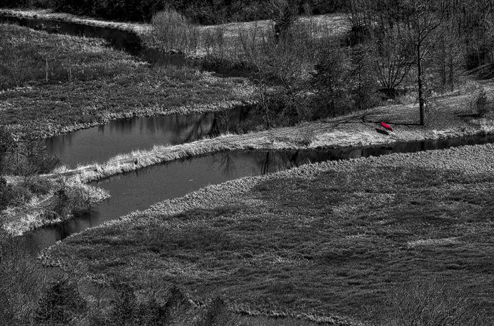 Canoe by Creek - StevenRalserPhoto