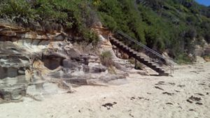 Sand to stairs
