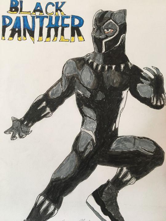Black Panther (Air T'Challa 11s) - Vaughn Resper Jr
