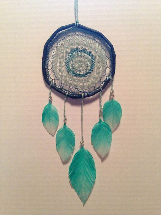 Turquoise Handcrafted Dreamcatcher - CMY Design
