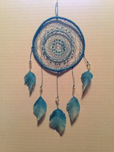 Sky Blue Handcrafted Dreamcatcher