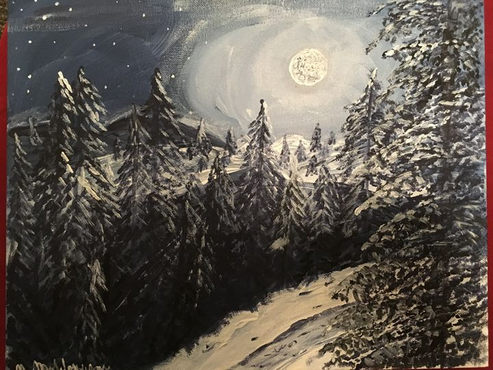 Mountains in winter. - Bijou