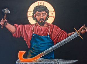 Christ Swords into Plowshares